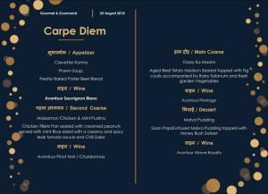 CARPE DIEM SCHOOL'S GOURMETS AND GOURMANDS